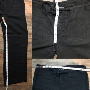 Vince Pants - VINCE 100% linen wide leg pull on pants black xs